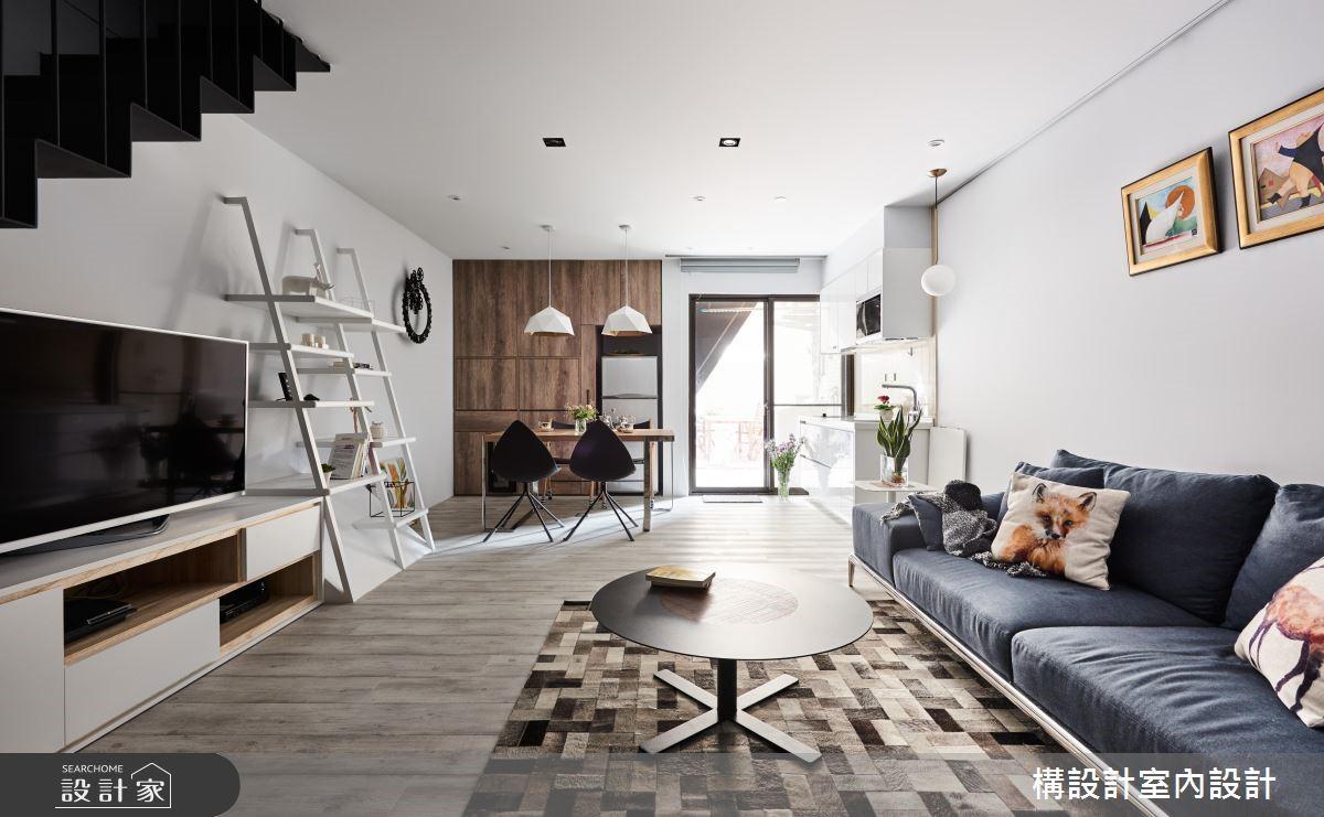 24坪新成屋(5年以下)_休閒風客廳案例圖片_構設計_構設計_兩人兩狗之3