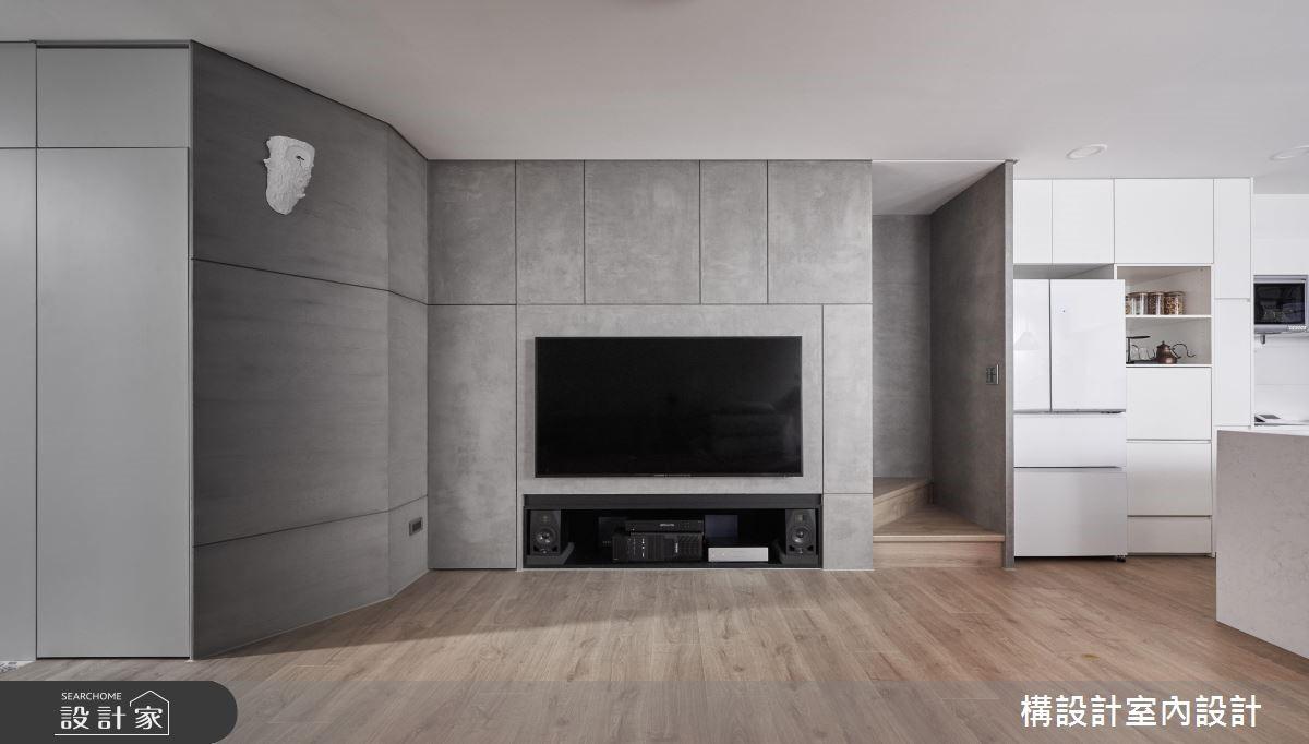 24坪新成屋(5年以下)_現代風客廳案例圖片_構設計_構設計_星空下之3