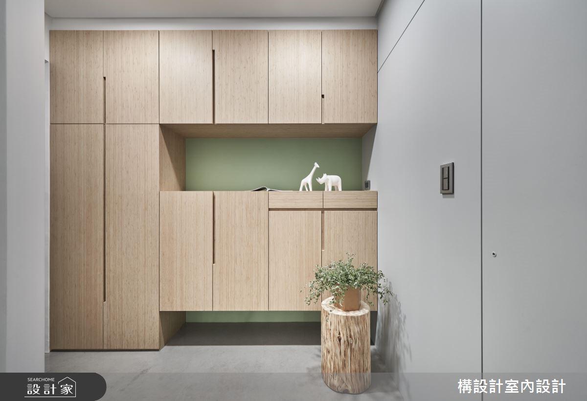 24坪新成屋(5年以下)_現代風玄關案例圖片_構設計_構設計_星空下之1