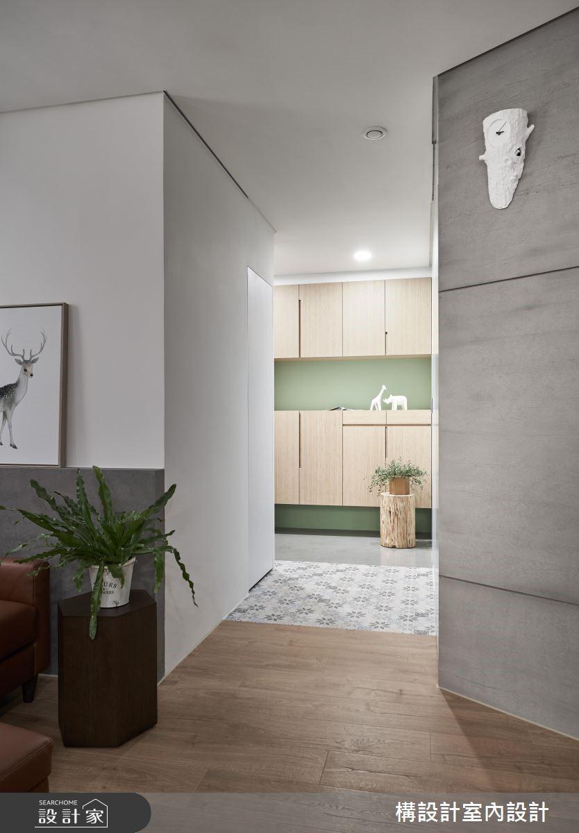 24坪新成屋(5年以下)_現代風玄關案例圖片_構設計_構設計_星空下之2