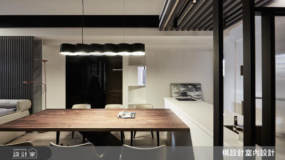 40坪新成屋(5年以下)_現代風餐廳案例圖片_構設計_構設計_空間的表情。當灰階遇上彩虹之2