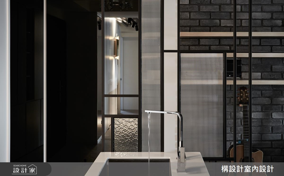 40坪新成屋(5年以下)_現代風中島案例圖片_構設計_構設計_空間的表情。當灰階遇上彩虹之4