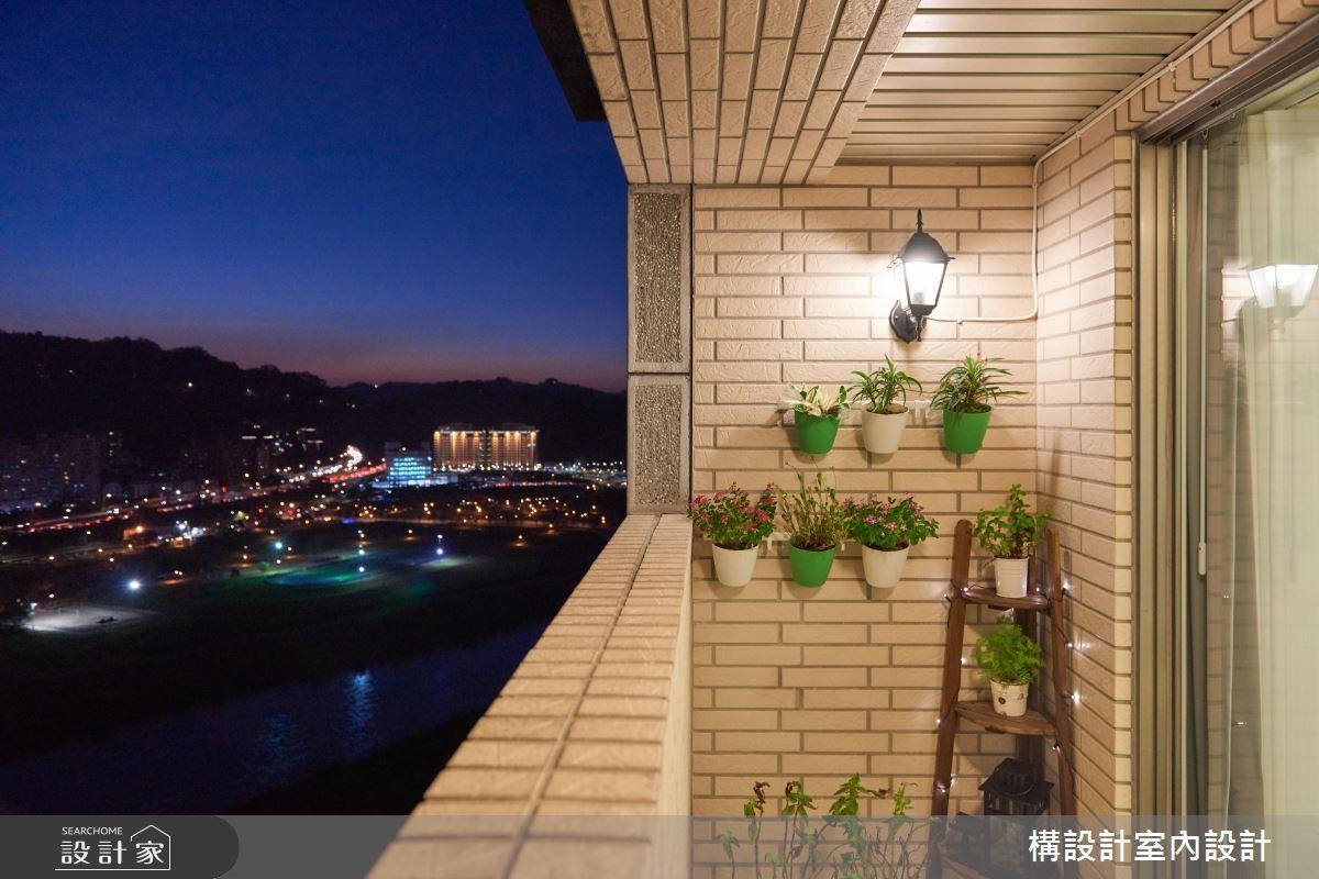 40坪老屋(16~30年)_鄉村風陽台案例圖片_構設計_構設計_空中水岸之家之24