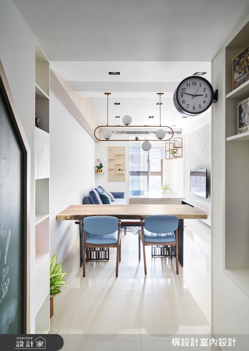 16坪新成屋(5年以下)_北歐風餐廳案例圖片_構設計_構設計_倚山輕居之3