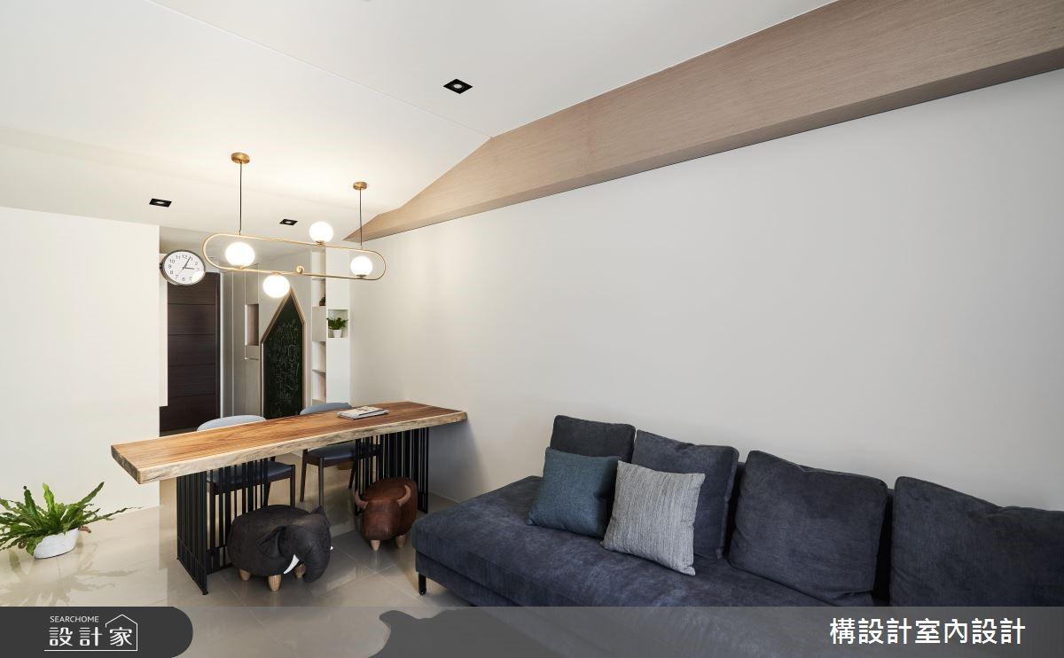 16坪新成屋(5年以下)_北歐風客廳餐廳案例圖片_構設計_構設計_倚山輕居之5