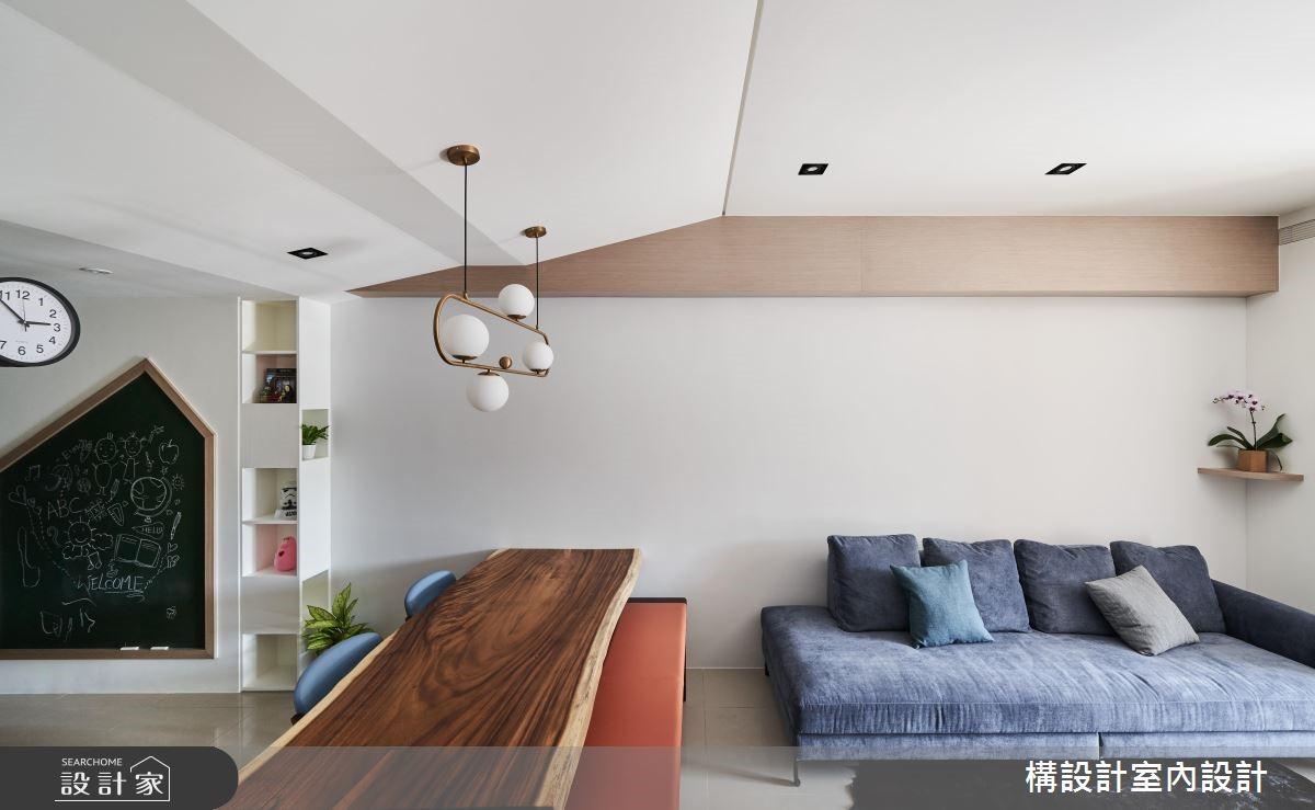 16坪新成屋(5年以下)_北歐風客廳案例圖片_構設計_構設計_倚山輕居之4