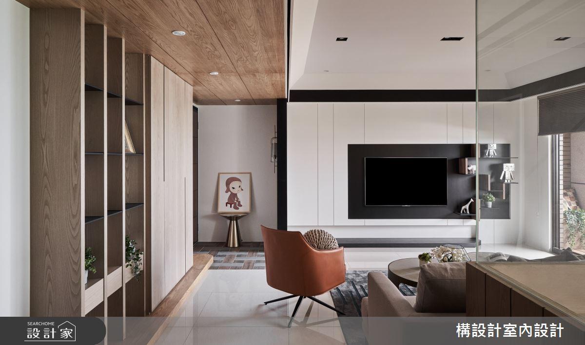 50坪新成屋(5年以下)_現代風客廳案例圖片_構設計_構設計_蒼蒼靜宅之3