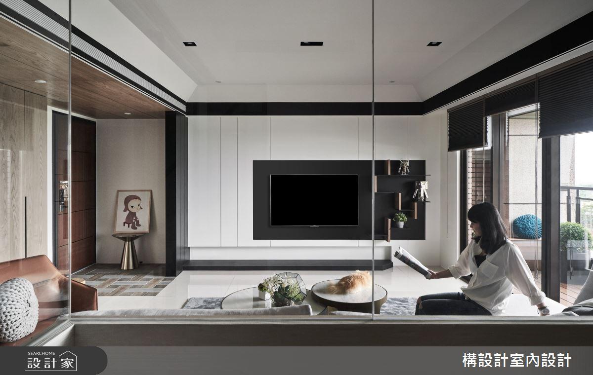50坪新成屋(5年以下)_現代風客廳案例圖片_構設計_構設計_蒼蒼靜宅之5