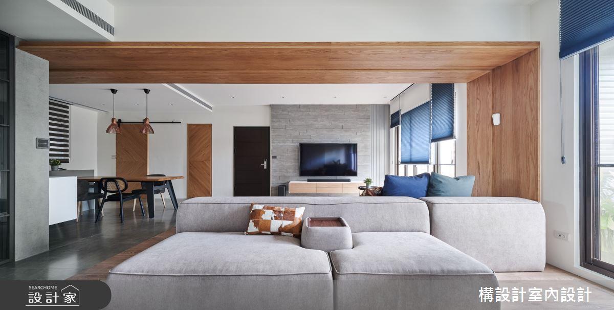 50坪新成屋(5年以下)_現代風客廳案例圖片_構設計_構設計_生活迴旋曲之3