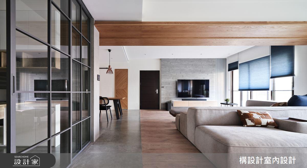 50坪新成屋(5年以下)_現代風客廳案例圖片_構設計_構設計_生活迴旋曲之4