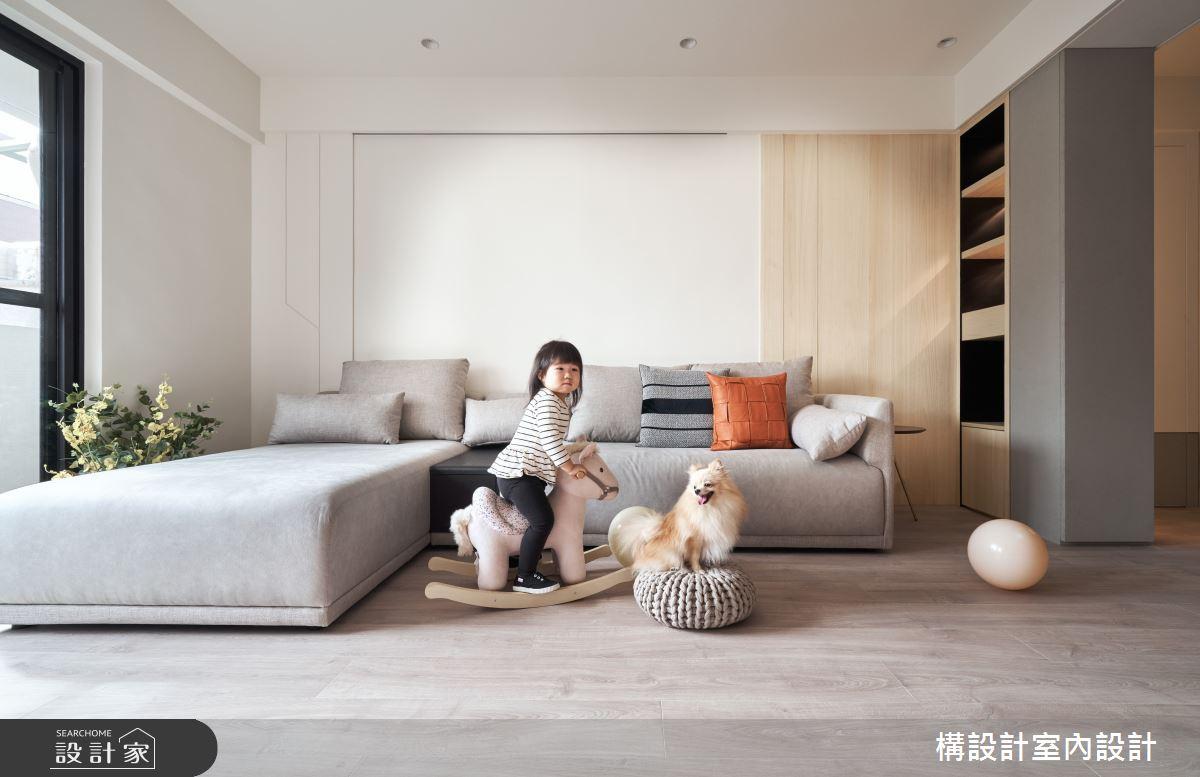 40坪老屋(16~30年)_北歐風客廳寵物案例圖片_構設計_構設計_晨光童話之65