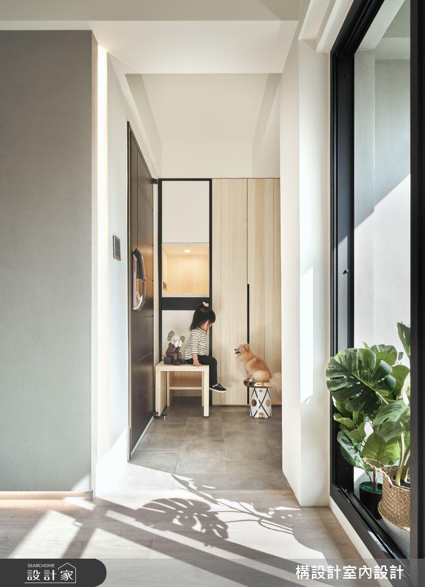 40坪老屋(16~30年)_北歐風玄關寵物案例圖片_構設計_構設計_晨光童話之2