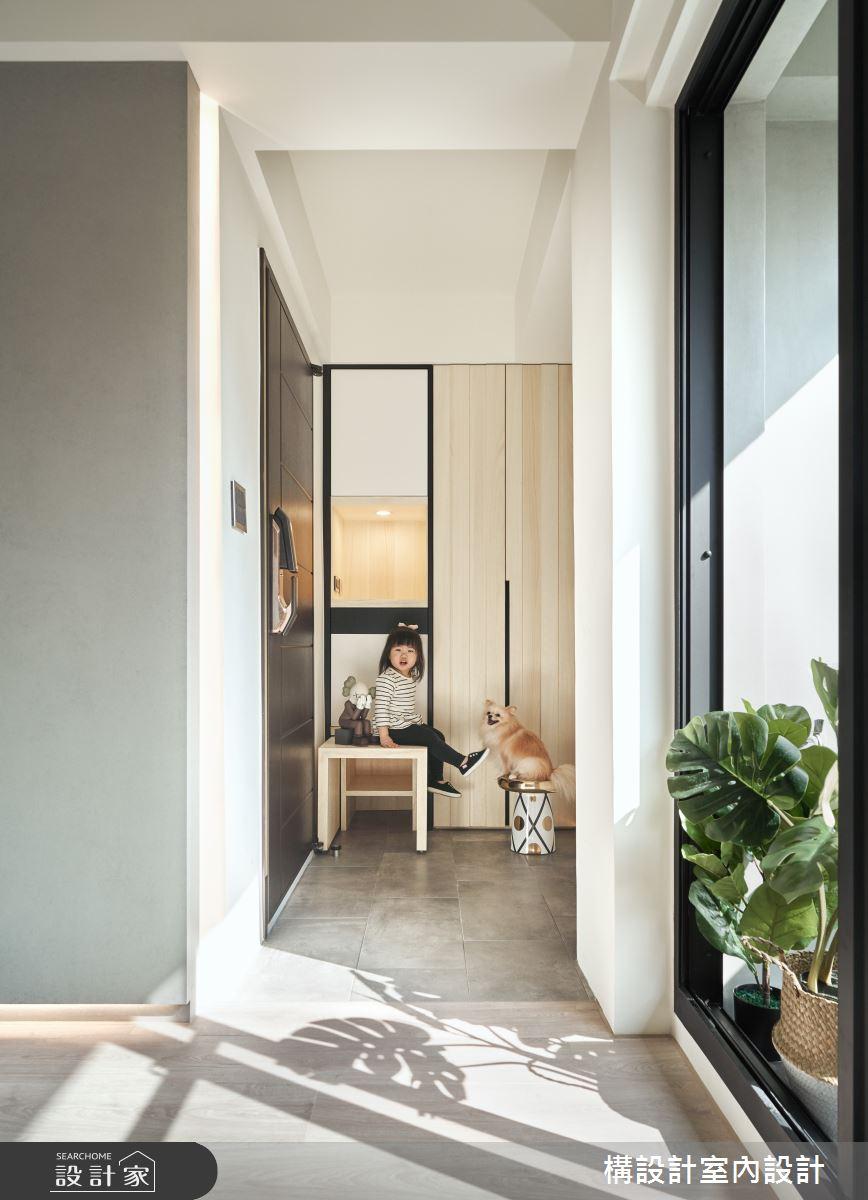 40坪老屋(16~30年)_北歐風玄關寵物案例圖片_構設計_構設計_晨光童話之3