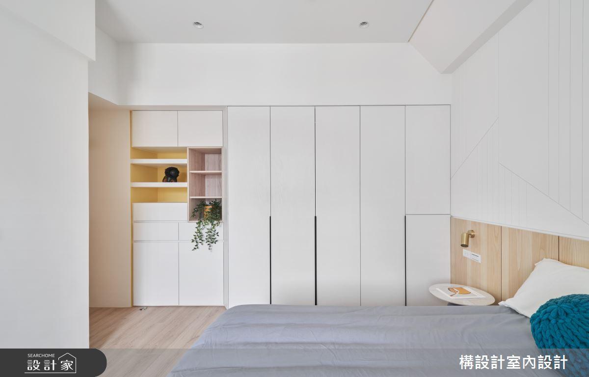 20坪老屋(16~30年)_日式無印風臥室案例圖片_構設計_構設計_綠實蕪華之14