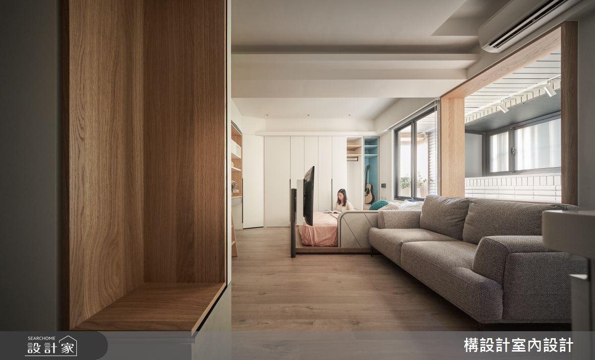 11坪新成屋(5年以下)_日式無印風案例圖片_構設計_構設計_眶框之4