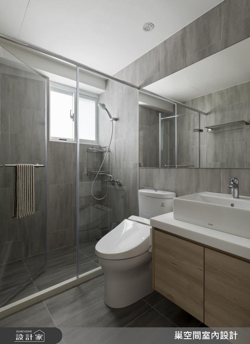 32坪老屋(16~30年)_北歐風浴室案例圖片_巢空間室內設計_巢空間_01之25