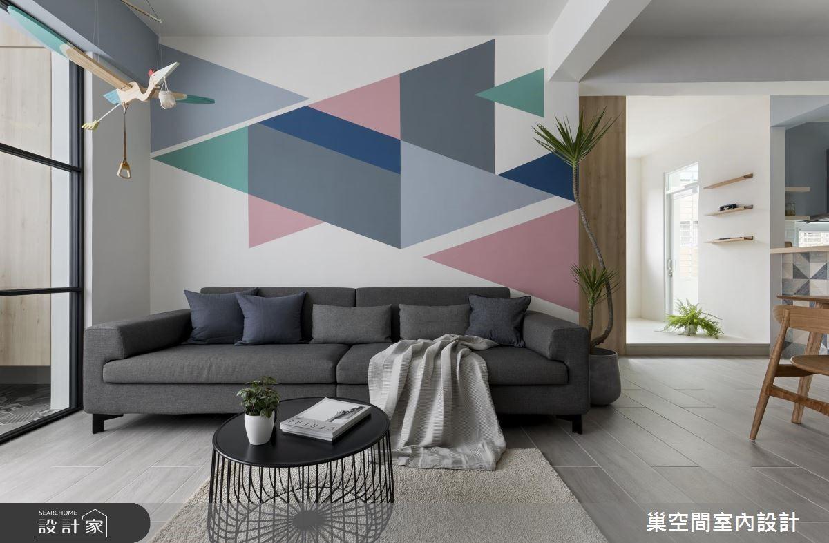 32坪老屋(16~30年)_北歐風客廳案例圖片_巢空間室內設計_巢空間_01之4