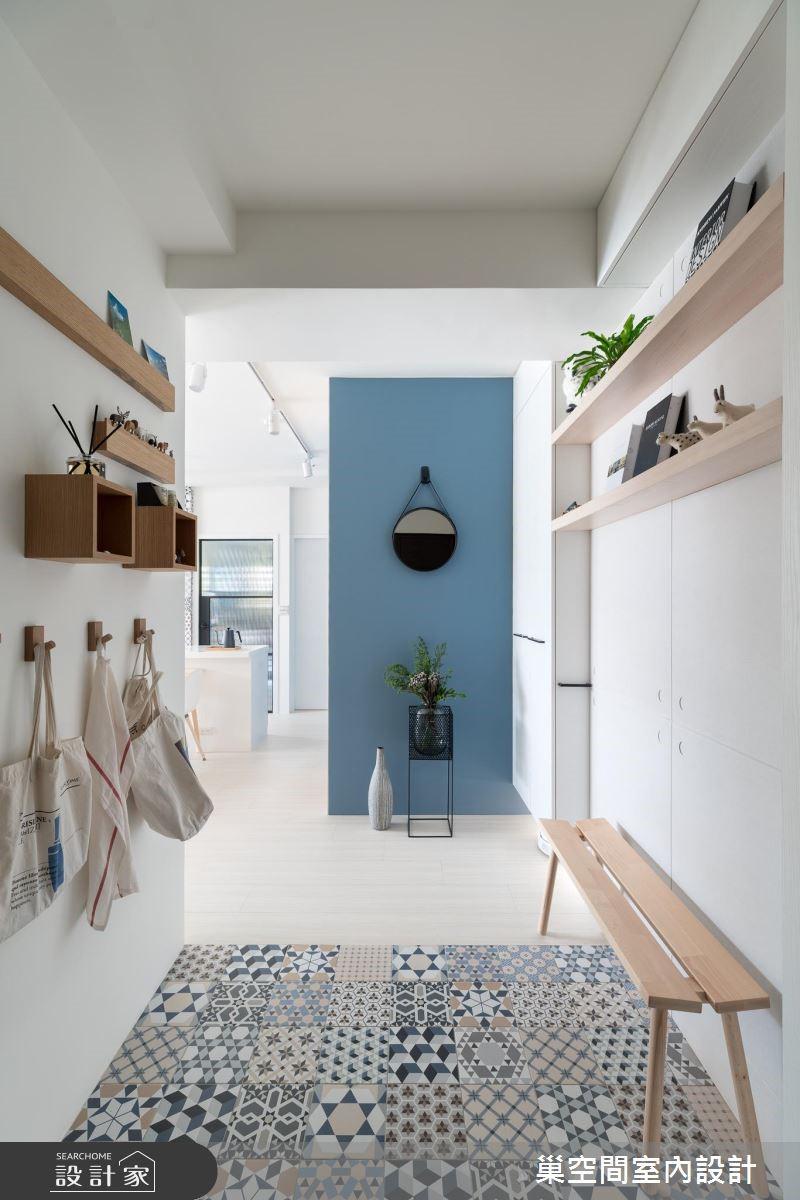 26坪新成屋(5年以下)_北歐風玄關案例圖片_巢空間室內設計_巢空間_02之1