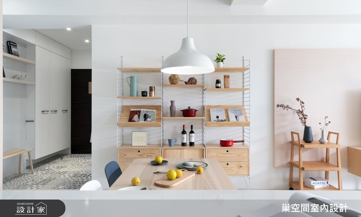 26坪新成屋(5年以下)_北歐風餐廳案例圖片_巢空間室內設計_巢空間_02之5
