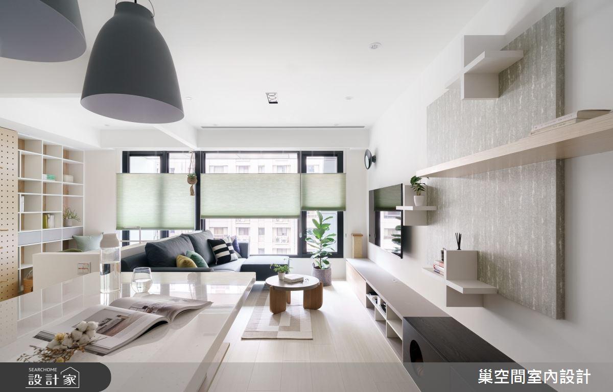 15坪新成屋(5年以下)_北歐風客廳案例圖片_巢空間室內設計_巢空間_06之10