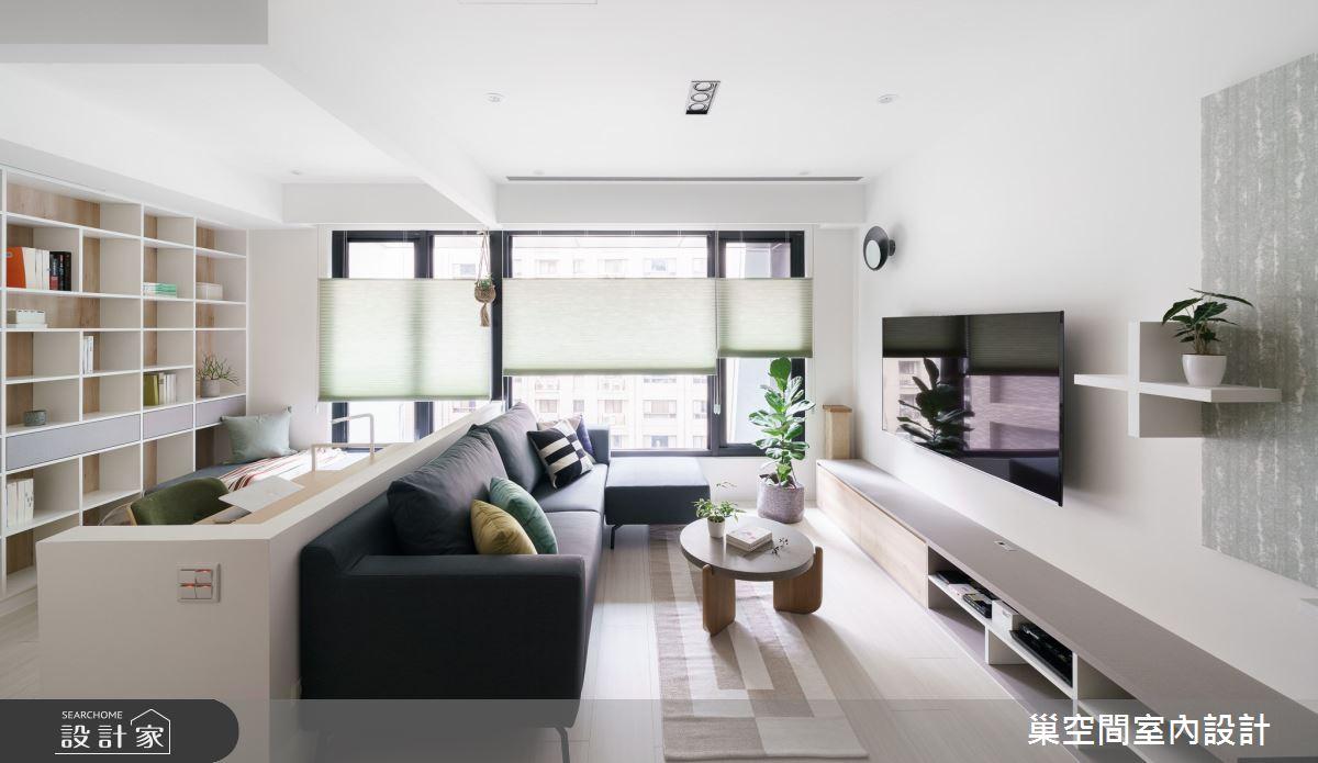 15坪新成屋(5年以下)_北歐風客廳案例圖片_巢空間室內設計_巢空間_06之11