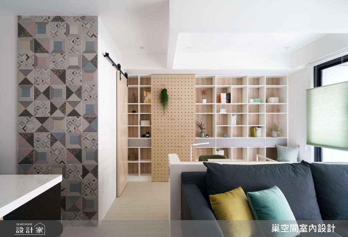 15坪新成屋(5年以下)_北歐風客廳案例圖片_巢空間室內設計_巢空間_06之13
