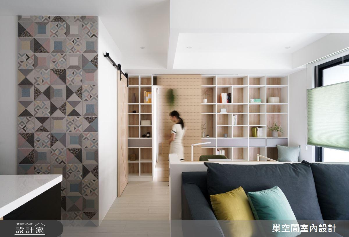 15坪新成屋(5年以下)_北歐風客廳案例圖片_巢空間室內設計_巢空間_06之14