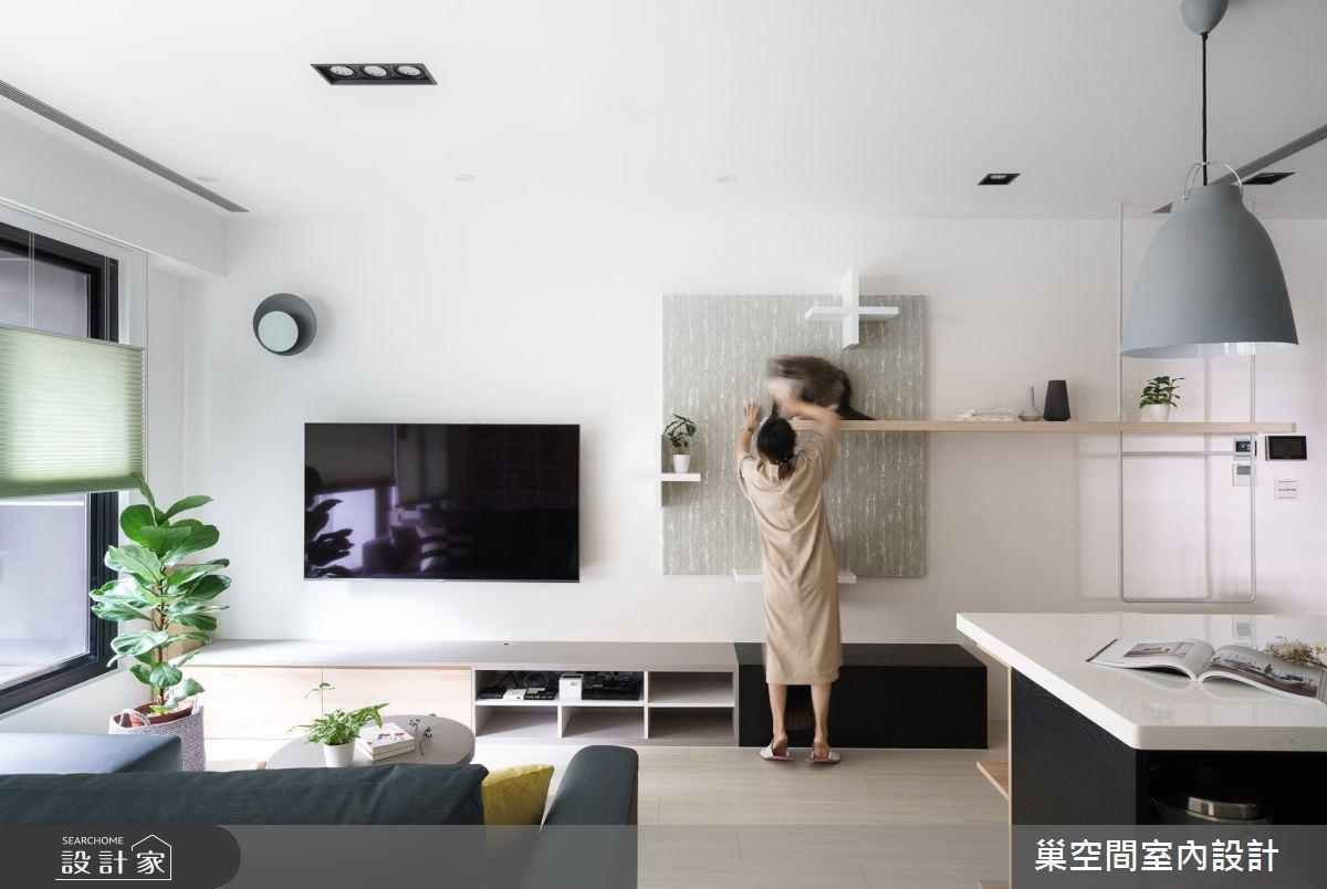 15坪新成屋(5年以下)_北歐風客廳案例圖片_巢空間室內設計_巢空間_06之9