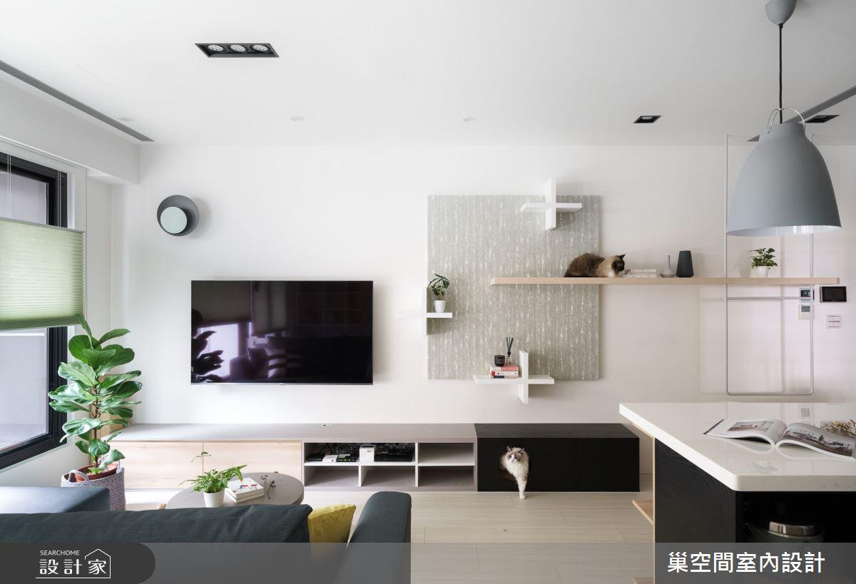 15坪新成屋(5年以下)_北歐風客廳案例圖片_巢空間室內設計_巢空間_06之8