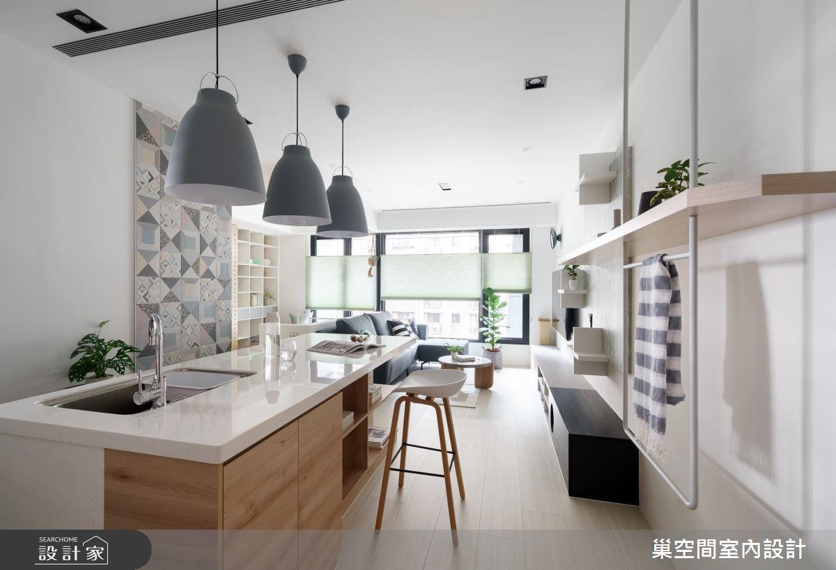 15坪新成屋(5年以下)_北歐風吧檯案例圖片_巢空間室內設計_巢空間_06之6