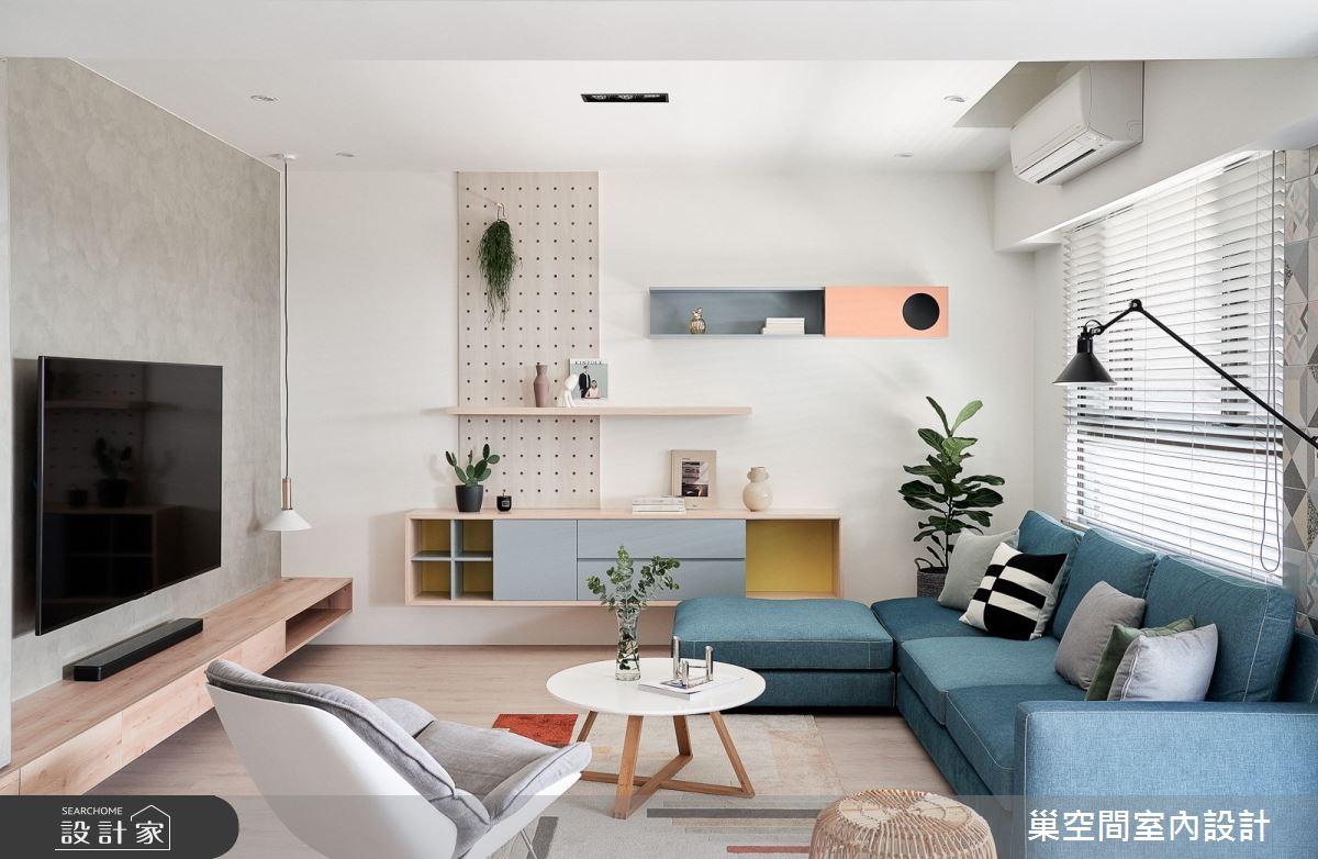 40坪新成屋(5年以下)_北歐風客廳案例圖片_巢空間室內設計_巢空間_07之2