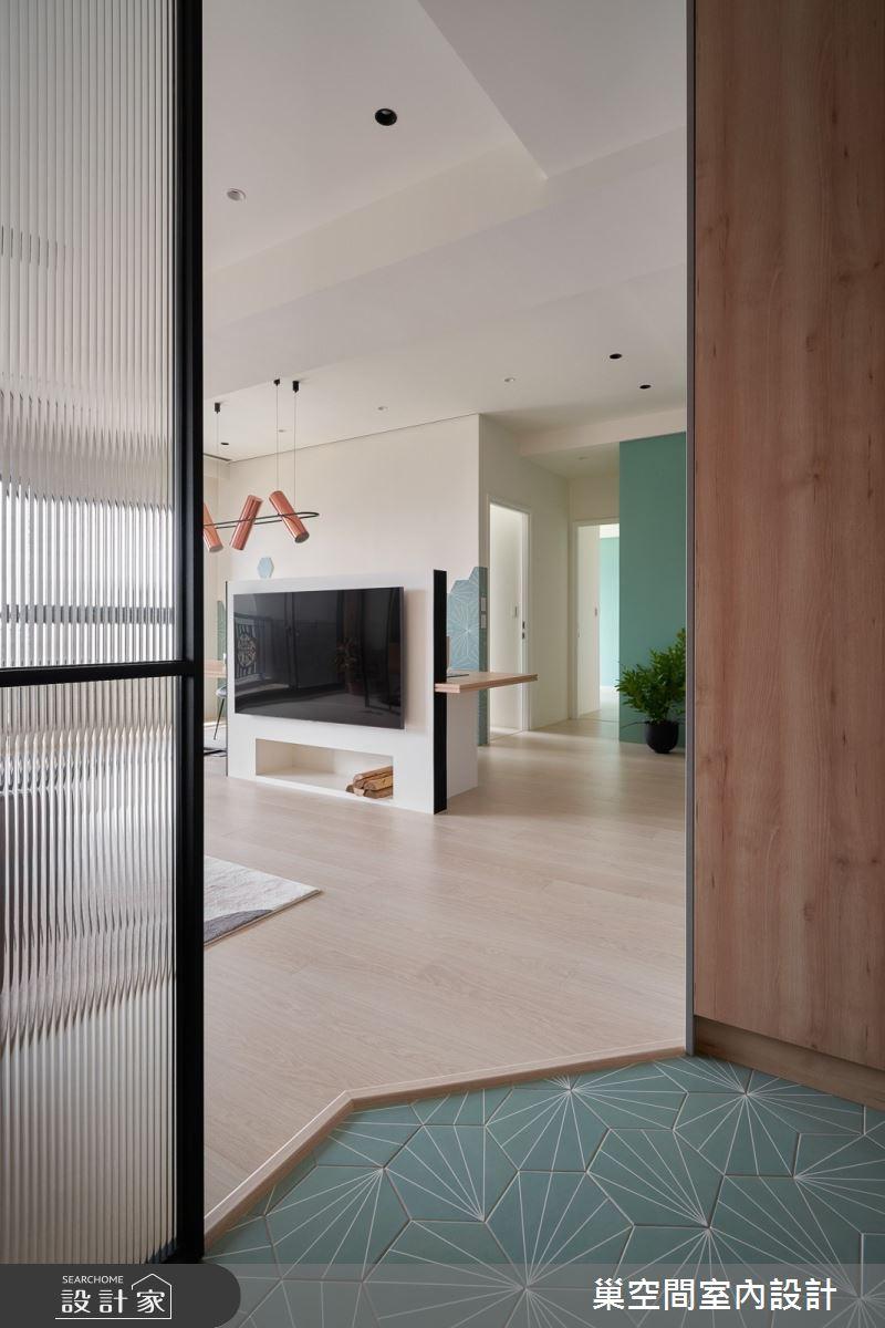 36坪新成屋(5年以下)_北歐風玄關案例圖片_巢空間室內設計_巢空間_11之2
