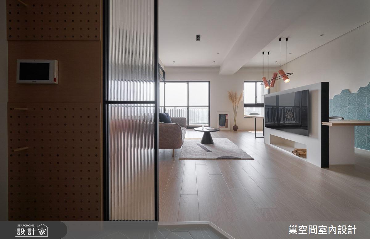 36坪新成屋(5年以下)_北歐風玄關案例圖片_巢空間室內設計_巢空間_11之3