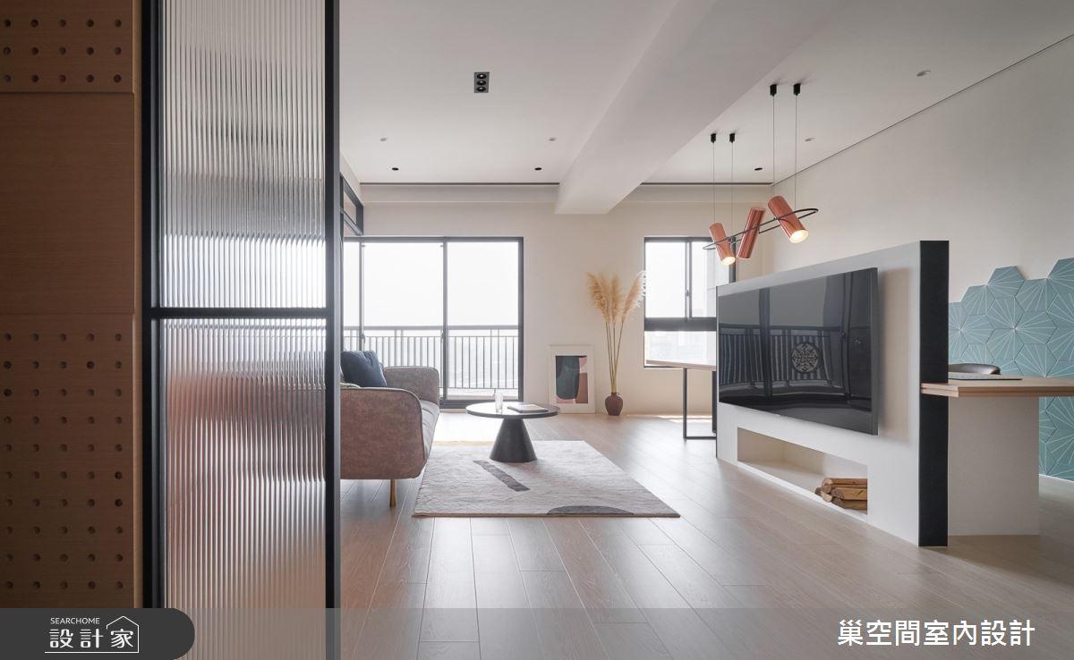36坪新成屋(5年以下)_北歐風客廳案例圖片_巢空間室內設計_巢空間_11之4