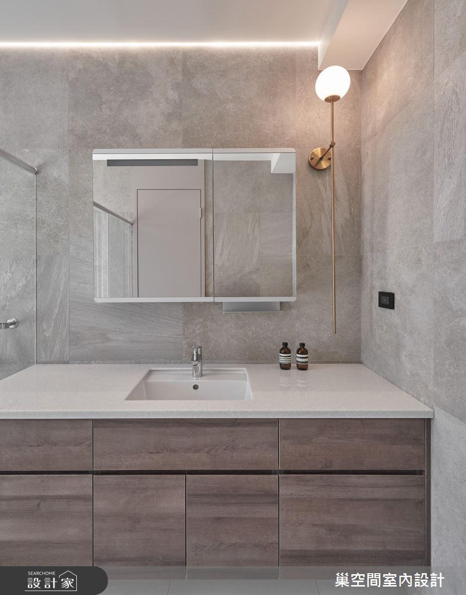 55坪新成屋(5年以下)_現代風浴室案例圖片_巢空間室內設計_巢空間_12之37