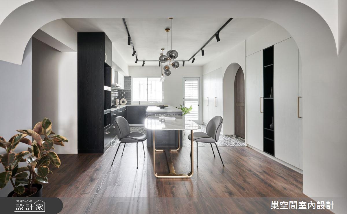 35坪老屋(31~40年)_現代風餐廳廚房吧檯案例圖片_巢空間室內設計_巢空間_14Bon Appétit之6