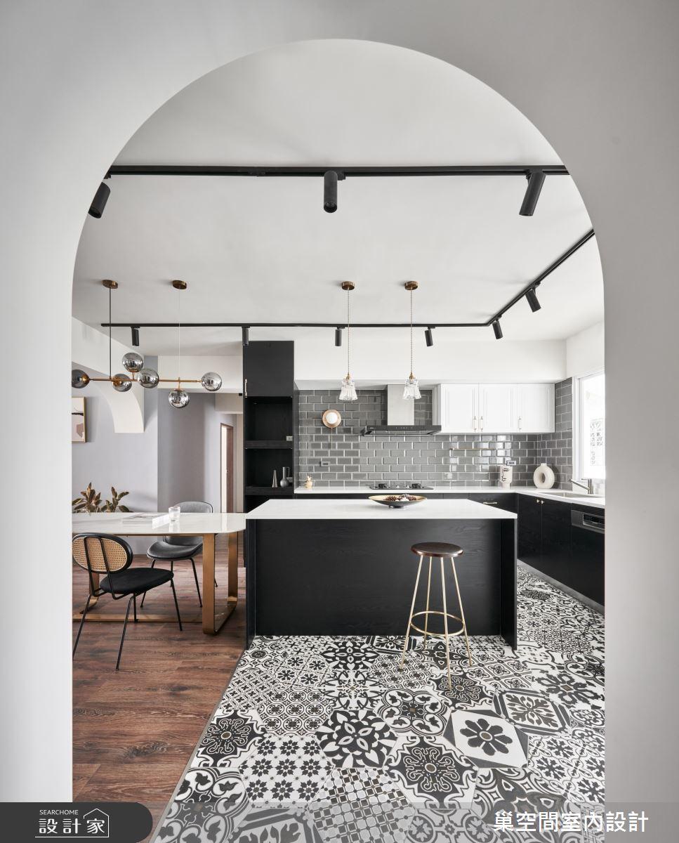 35坪老屋(31~40年)_現代風餐廳廚房吧檯案例圖片_巢空間室內設計_巢空間_14Bon Appétit之11