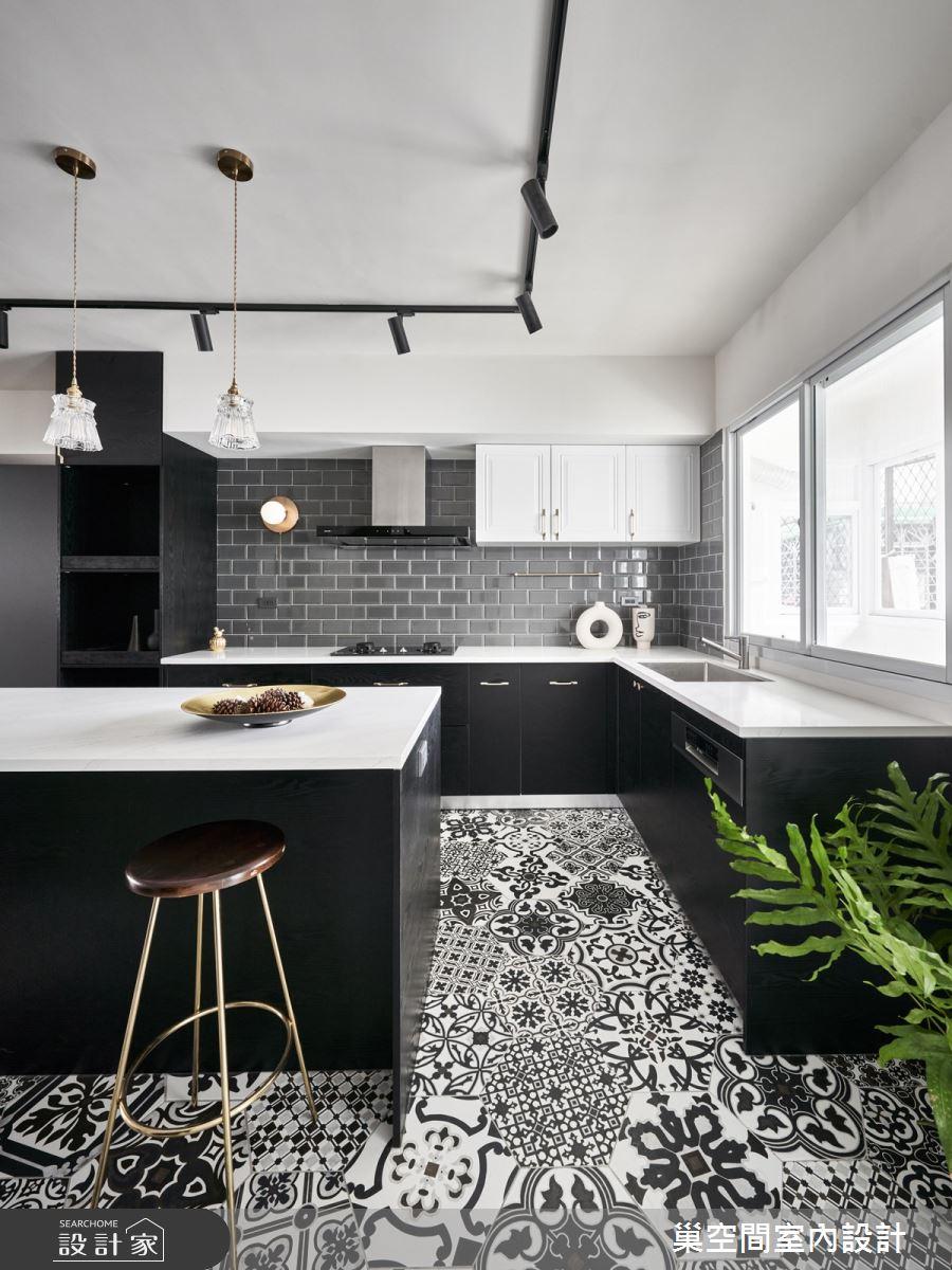 35坪老屋(31~40年)_現代風餐廳廚房吧檯案例圖片_巢空間室內設計_巢空間_14Bon Appétit之12