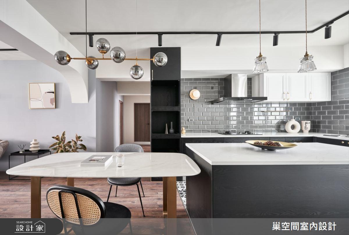 35坪老屋(31~40年)_現代風餐廳廚房吧檯案例圖片_巢空間室內設計_巢空間_14Bon Appétit之13