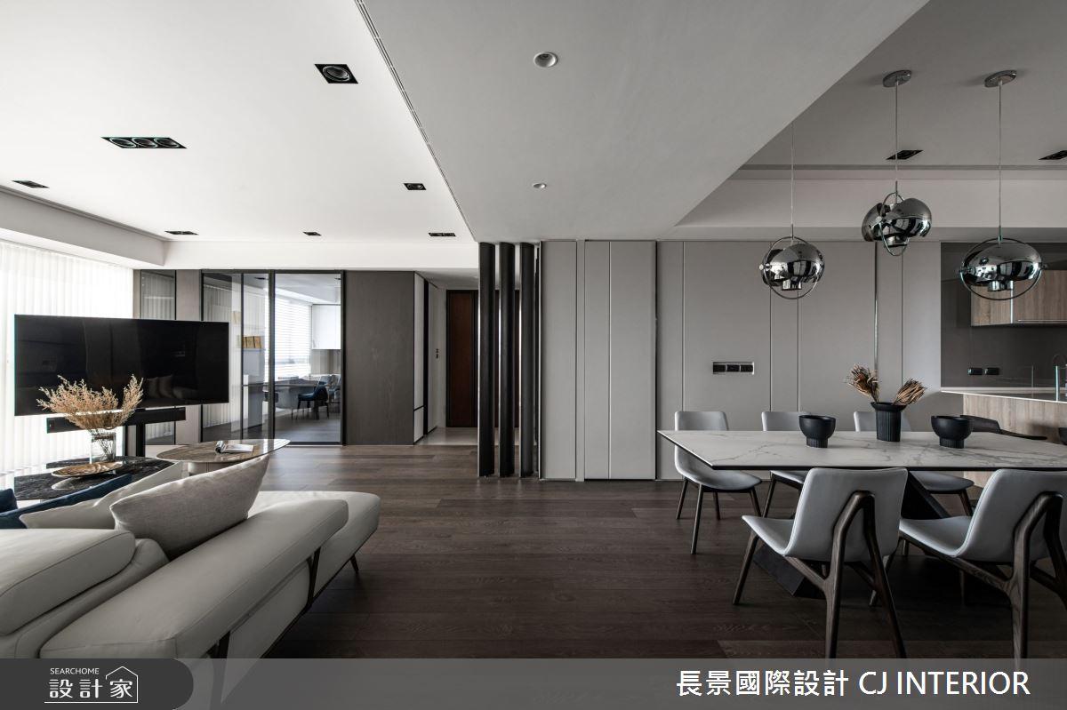 112坪新成屋(5年以下)_現代風客廳餐廳案例圖片_長景國際有限公司_長景_24之4