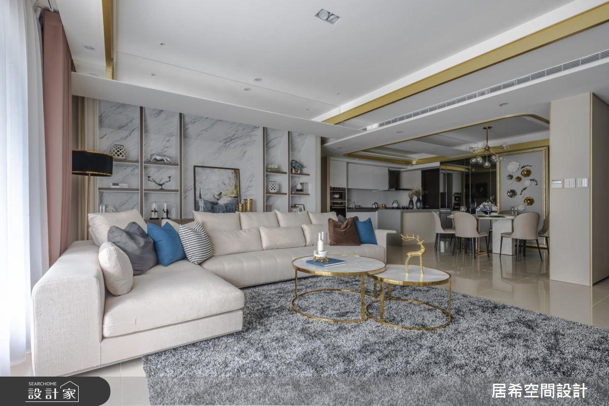 52坪新成屋(5年以下)_奢華風客廳案例圖片_居希室內設計有限公司_居希_01之2