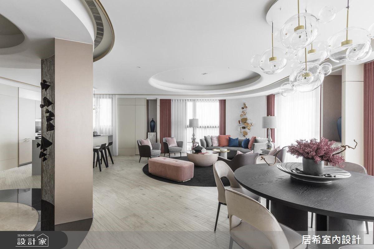 59坪新成屋(5年以下)_美式風玄關客廳餐廳案例圖片_居希室內設計有限公司_居希_04之4