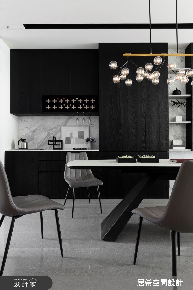 76坪新成屋(5年以下)_現代風餐廳案例圖片_居希室內設計有限公司_居希_06之2