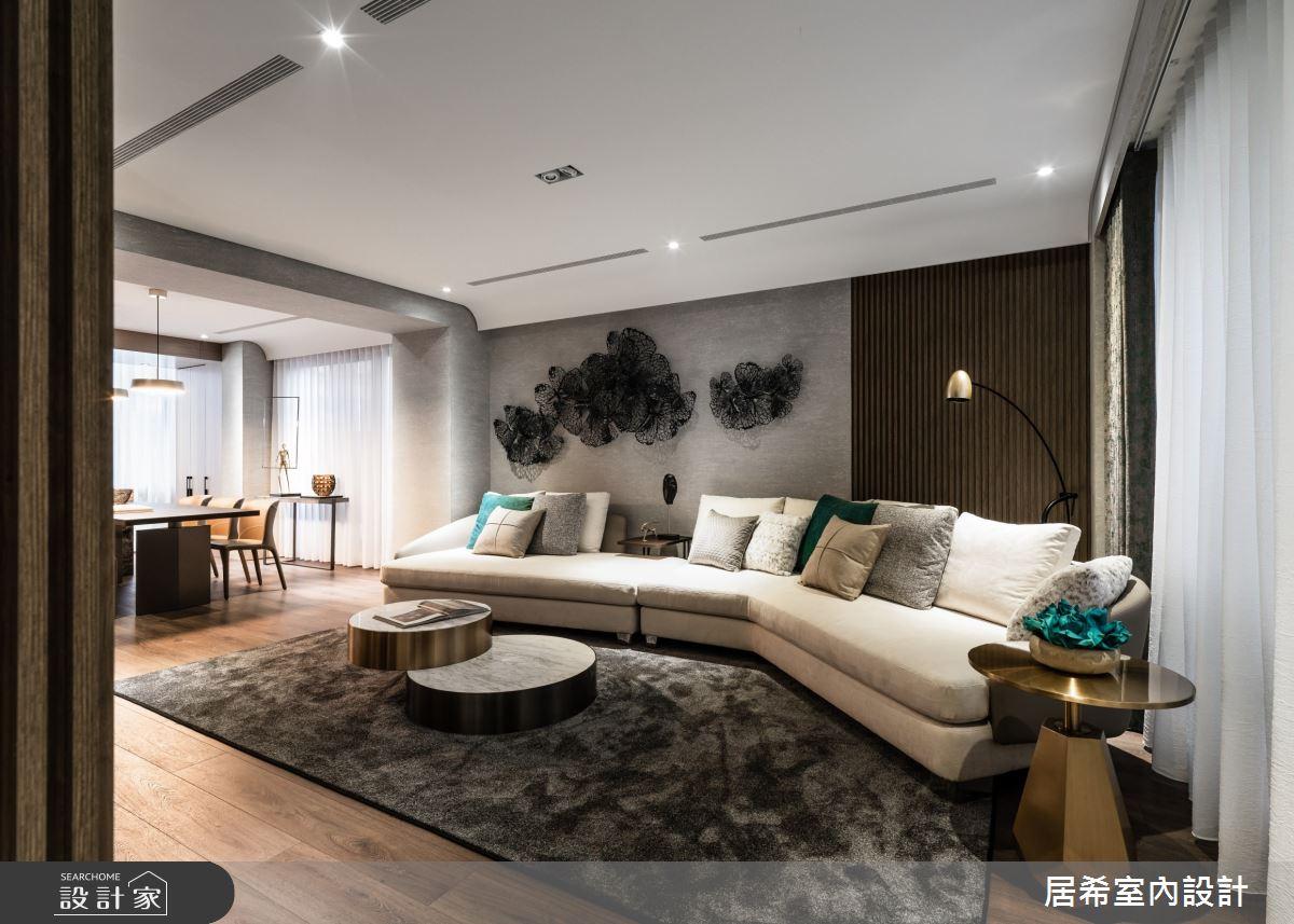 75坪新成屋(5年以下)_現代風客廳案例圖片_居希室內設計有限公司_居希_07之1