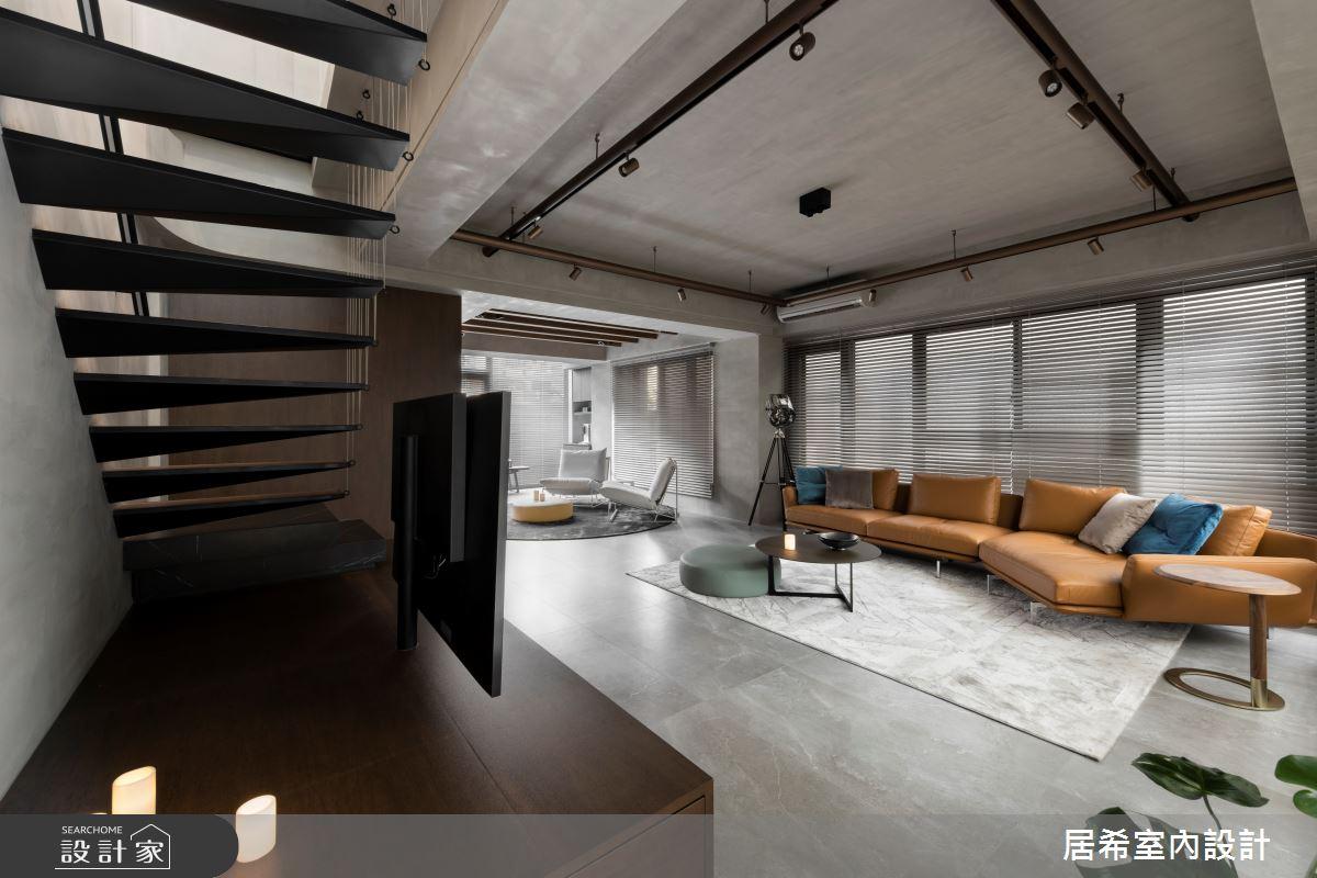 92坪新成屋(5年以下)_工業風客廳案例圖片_居希室內設計有限公司_居希_08之1