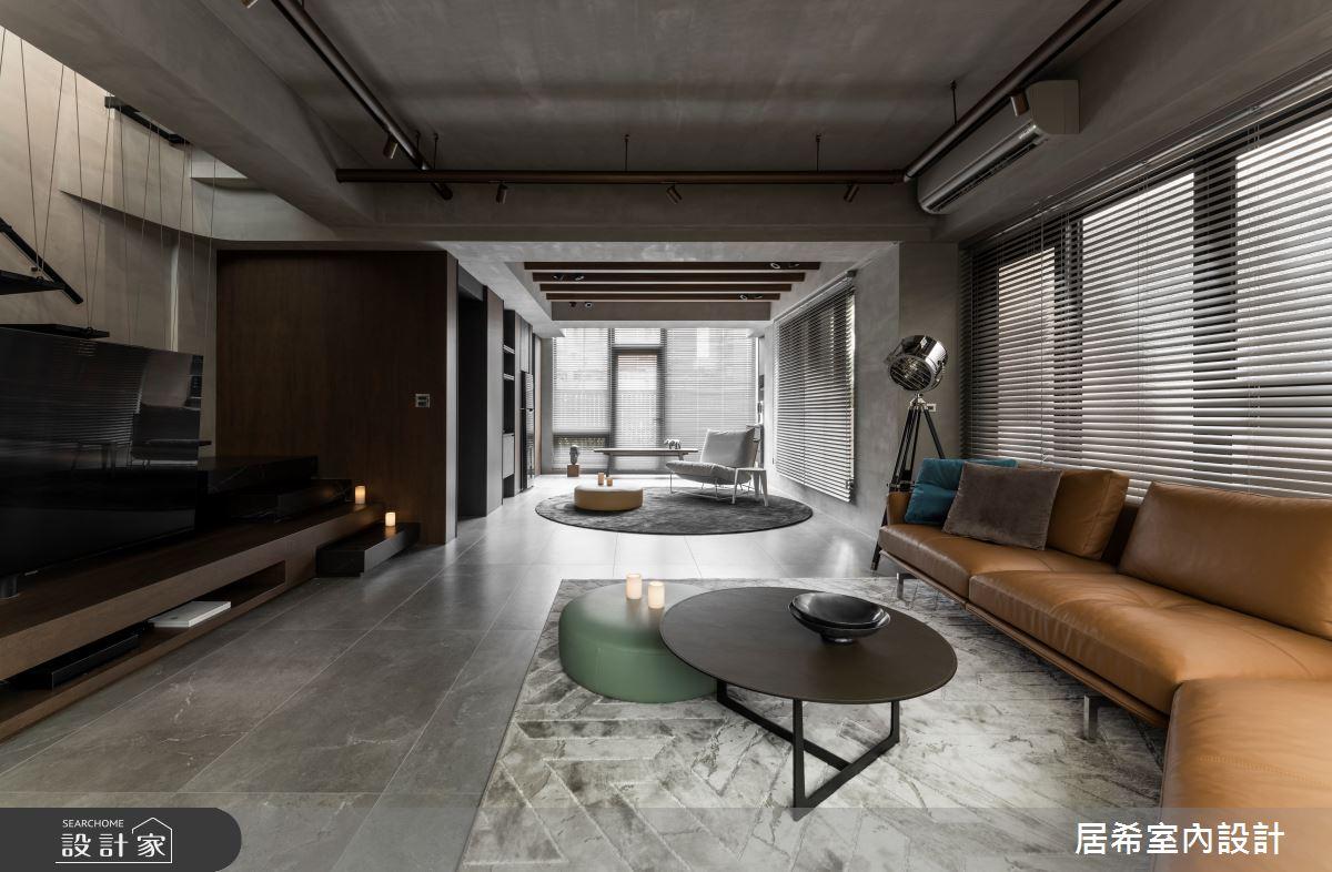 92坪新成屋(5年以下)_工業風客廳案例圖片_居希室內設計有限公司_居希_08之2