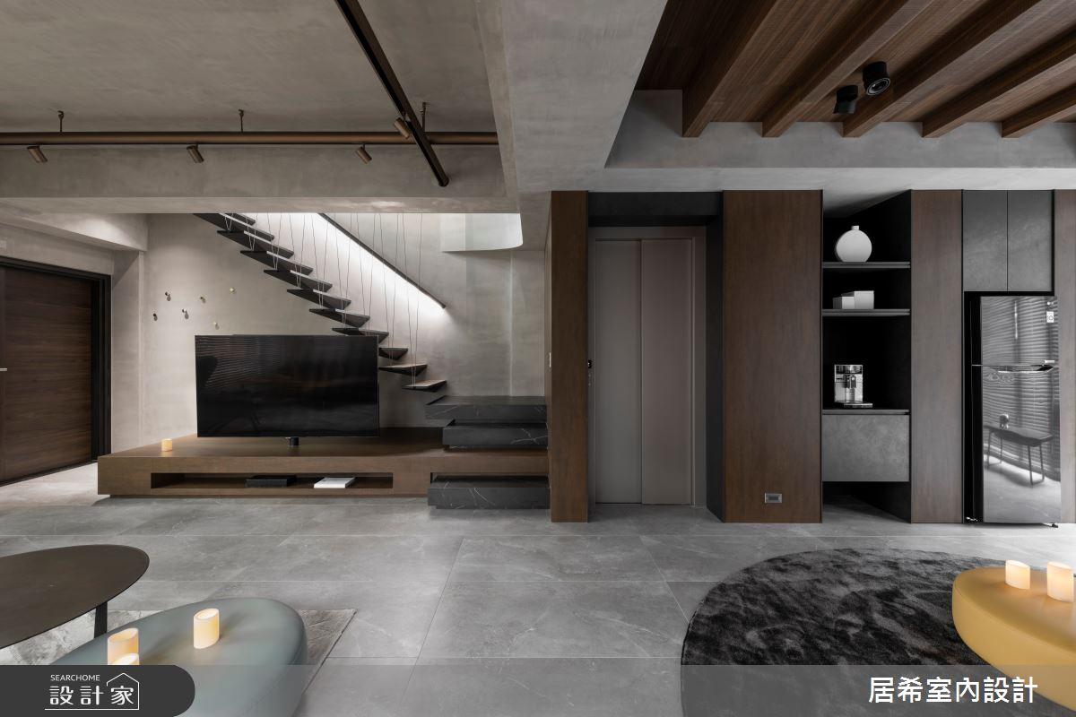 92坪新成屋(5年以下)_工業風客廳案例圖片_居希室內設計有限公司_居希_08之4