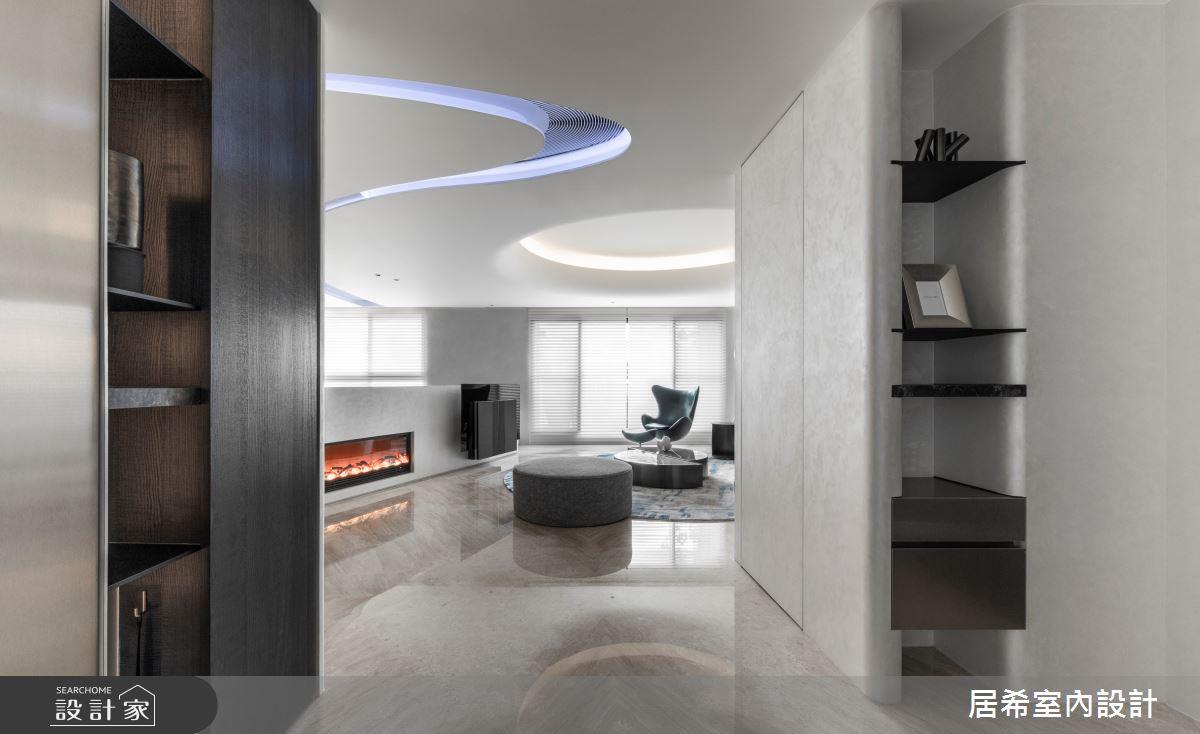 56坪新成屋(5年以下)_現代風玄關客廳案例圖片_居希室內設計有限公司_居希_10之2