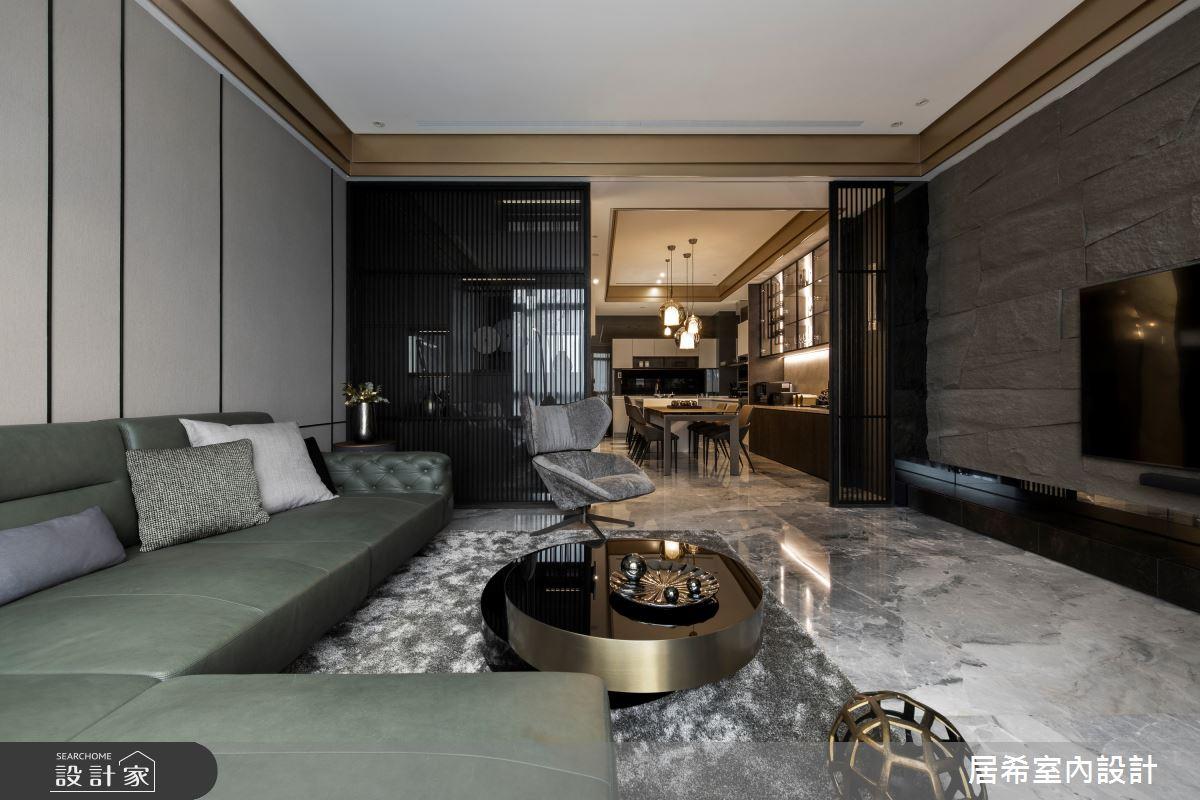 80坪新成屋(5年以下)_現代風客廳案例圖片_居希室內設計有限公司_居希_11之3