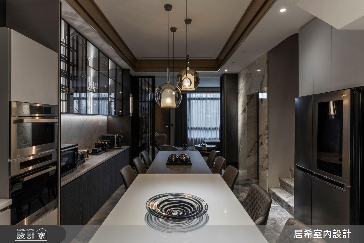 80坪新成屋(5年以下)_現代風餐廳廚房案例圖片_居希室內設計有限公司_居希_11之5